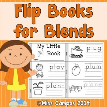Flip Books for R Blends, S Blends, L Blends and Ending Blends