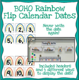 Flip Calendar (Dates) - Boho-like Rainbows