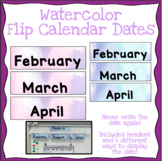 Flip Calendar (Dates) - Watercolor
