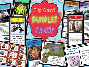 Flip Card BUNDLE!! 10 Resources ALL TOGETHER!