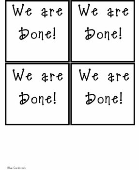Flip Cards for Students to Indicate How They are Doing