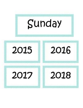 Flip Chart Calendar