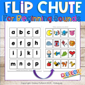 Flip Chute Alphabet Cards and Instructions to make a Flip Chute