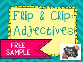 Flip & Clip: Adjectives FREEBIE