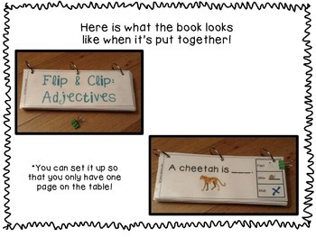 Flip & Clip: Adjectives and Companion Activities