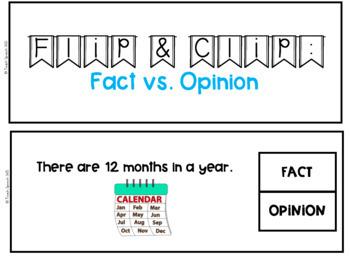 Flip & Clip: Fact vs. Opinion?