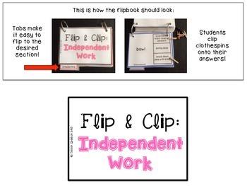 Flip & Clip: Independent Work