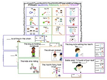 Flip & Clip: Pronouns and Companion Activities