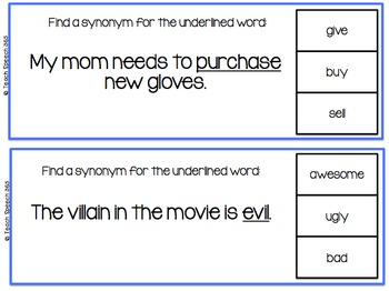 Flip & Clip: Synonyms/Antonyms