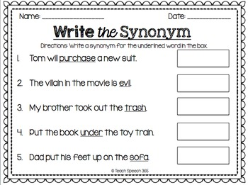 Flip & Clip: Synonyms/Antonyms