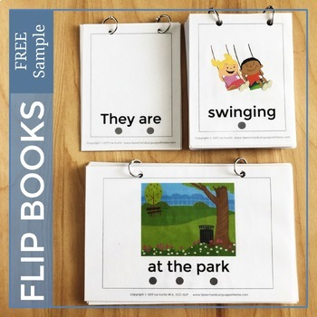 Flip Books Mix It Up Free Sample Verbs, Nouns and Adjectives for Speech Therapy