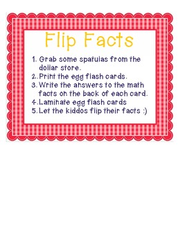 Flip Egg Flash Cards