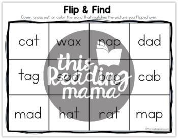 Flip & Find CVC Spelling Activity