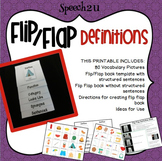 Flip Flap Definitions Book: Speech therapy