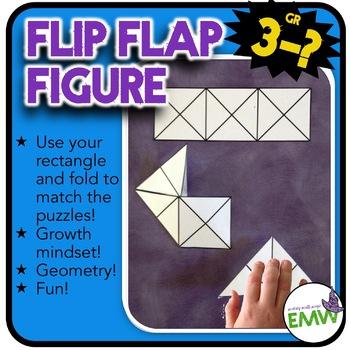 Flip Flap Figure - Fun geometry puzzle activity - challenging growth mindset!