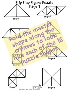 Flip Flap Figure Fun geometry puzzle activity challenging growth mindset