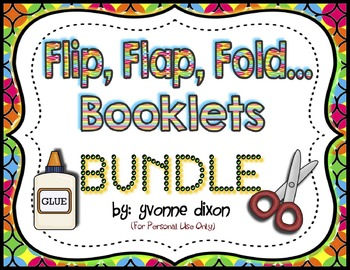 Flip, Flap, Fold... Booklets BUNDLE  {Math and Language}