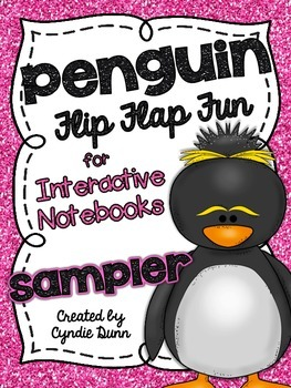 Flip Flap Fun - Penguins {Interactive Notebooks} SAMPLER