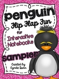 Flip Flap Fun - Penguins {Interactive Notebooks} SAMPLER