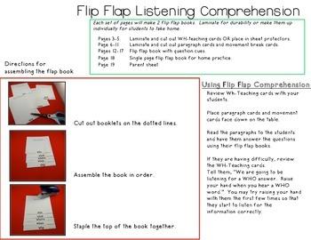 Flip Flap Listening Comprehension