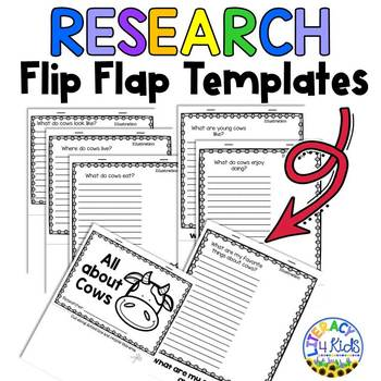 Flip Flap Research Booklets Farm Animal Themed