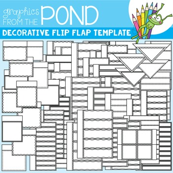 Flip Flap Template Set - Decorative - Great for Interactive Notebooks!