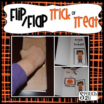 Halloween Speech Therapy Trick or Treating Craft: Syntax, Vocabulary