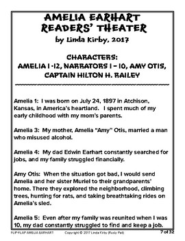 Flip-Flap's: Amelia Earhart readers' theater (3rd Grade)