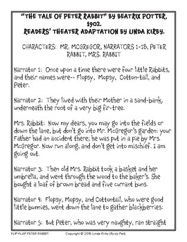 Flip-Flap's: Peter Rabbit readers' theater (1st & 2nd Grade)