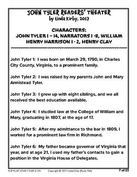 Flip-Flap's: President John Tyler readers' theater (3rd-5th Grades)