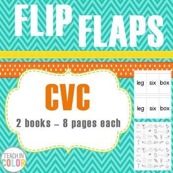 Flip Flaps - CVC Self-Checking Practice Books