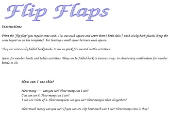 Flip Flaps - Number bonds to 10