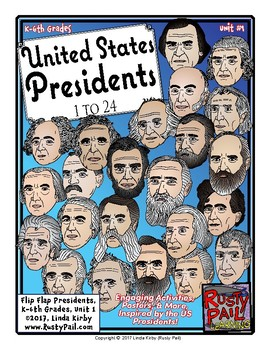 Flip-Flap's: US Presidents 1-24 (K-6th Grades)