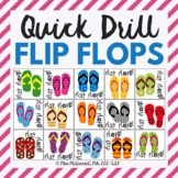 Quick Drill Summer Flip Flops {for speech therapy or any skill drill}