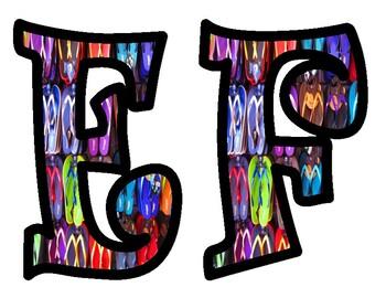 Flip Flop Alphabet Bulletin Board Letters