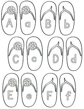 Flip Flop Alphabet Match