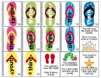 Flip Flop Articulation Matching {/r/,/s/,/z/,/k/,/g/,/l/,sh, ch, j, th & blends}