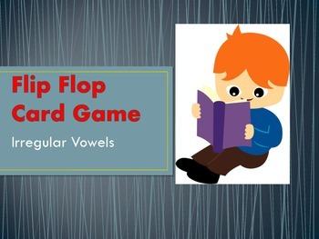 Flip Flop Card Game (Irregular Vowels)