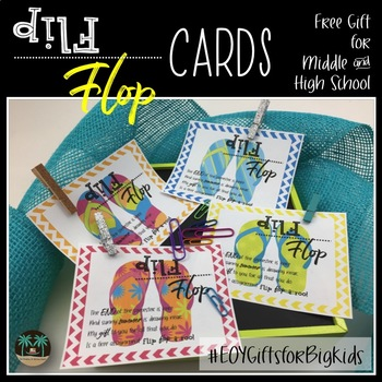 Flip Flop Cards for Middle and High School #EOYGiftsforBigKids