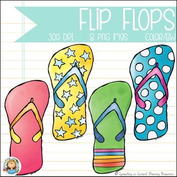 Flip Flop Clipart FREEBIE