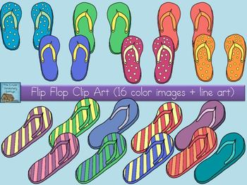 Flip Flop Clip Art Set {Personal and Commercial Use}