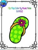 Flip Flop Color By Music Note BUNDLE