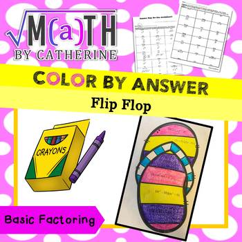 Flip Flop Color by Answer Basic Factoring