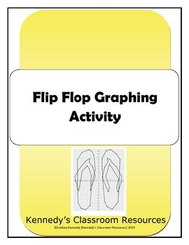 Flip Flop Coordinate Graphing - Great for an End-of-Year A