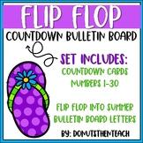 Flip Flop Countdown Bulletin Board