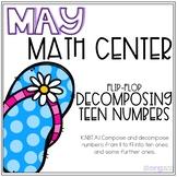 Flip Flop Decomposing Teen Numbers Kindergarten May Math Center