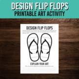 Flip Flop Design About Me Art Activity / Back to School Printable