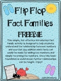 Flip Flop Fact Families (FREEBIE) Commutative Property
