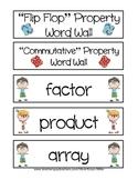 Flip Flop Fact Family Fun Word Wall FREEBIE