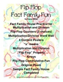 Flip Flop Fact Family House Fun - Commutative, Mult/Div with Bonus